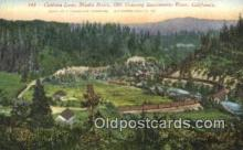 trn002166 - Cantara Loop, Sacramento River, California, CA USA Trains, Railroads Postcard Post Card Old Vintage Antique