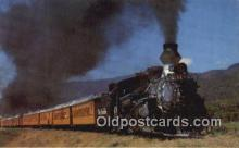 trn002167 - Denver and Rio Grande Narrow Gauge Passenger Train, Durango, Colorado, CO USA Trains, Railroads Postcard Post Card Old Vintage Antique