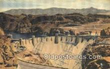 trn002168 - Hoover Dam, Nevada, NV USA Trains, Railroads Postcard Post Card Old Vintage Antique