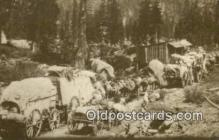 trn002173 - Repro Image, Wagon Trains Trains, Railroads Postcard Post Card Old Vintage Antique