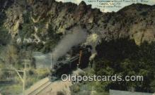 trn002178 - Eastern Express, Tunnel No.3 Weber Canyon, Utah, UT USA Trains, Railroads Postcard Post Card Old Vintage Antique