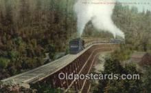 trn002180 - Dollarhide Trestle, Shasta, California, CA USA Trains, Railroads Postcard Post Card Old Vintage Antique