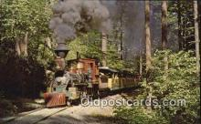 trn002186 - Old Fashioned Train, Portland, Oregon, OR USA Trains, Railroads Postcard Post Card Old Vintage Antique