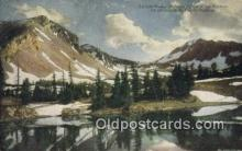 trn002189 - Taylors Peak, Gallatin Range Of The Rockies, USA Trains, Railroads Postcard Post Card Old Vintage Antique