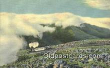 trn002194 - Cog Railway, Mt Washington, White Mountains, New Hampshire, NH USA Trains, Railroads Postcard Post Card Old Vintage Antique