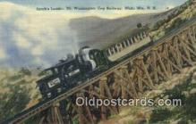 trn002195 - The Cog Rialway, Mt Washington, New Hampshire, NH  USA Trains, Railroads Postcard Post Card Old Vintage Antique