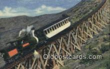 trn002196 - Jacobs Ladder, Mt Washington, Cog Railway, White Mountains, New Hampshire, NH USA Trains, Railroads Postcard Post Card Old Vintage Antique