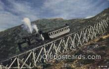 trn002197 - Cog Railway, Jacobs Ladder, Mt Washington, WA USA Trains, Railroads Postcard Post Card Old Vintage Antique