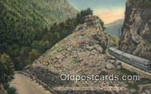 trn002200 - Entrance To Crawford's Notch, White Mountains, New Hampshire, NH USA Trains, Railroads Postcard Post Card Old Vintage Antique