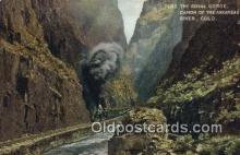 trn002209 - Royal Gorge, Colorado, CO USA Trains, Railroads Postcard Post Card Old Vintage Antique