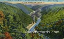 trn002214 - Pennsylvania's Grand Canyon, Pennsylvania, PA USA Trains, Railroads Postcard Post Card Old Vintage Antique