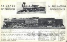 trn002215 - Burlington Locomotives Trains, Railroads Postcard Post Card Old Vintage Antique