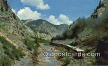 trn002216 - Narrow Gauge Train, Durango, Colorado, CO USA Trains, Railroads Postcard Post Card Old Vintage Antique