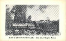 trn002220 - Bath And Hammondsport, Railroad, USA Trains, Railroads Postcard Post Card Old Vintage Antique