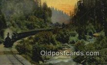trn002233 - Sacramento River, Mt Shasta, California, CA USA Trains, Railroads Postcard Post Card Old Vintage Antique