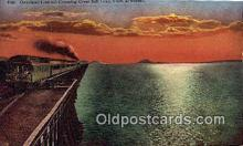 trn002234 - Overland Limited, Great Salt Lake, Utah, UT USA Trains, Railroads Postcard Post Card Old Vintage Antique