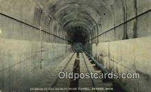 trn002239 - Interior Of Detroit River Tunnel, Detroit, Michigan, MI USA Trains, Railroads Postcard Post Card Old Vintage Antique
