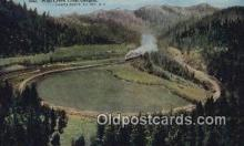 trn002249 - Wolf Creek Loop, Oregon, OR USA Trains, Railroads Postcard Post Card Old Vintage Antique