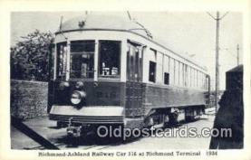 try001004 - Richmond Ashland Railway Car 316 Richmond Virginia, VA, USA