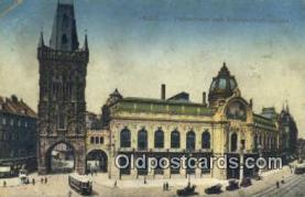try101088 - Pulverturm mit Reprasentationshaus Prag, Chicckoslovakia