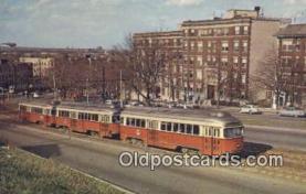 try101111 - Three Car Rush Hour Train of Pcc Cars Boston, Mass, USA