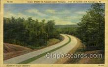 tur001005 - Scenic Beauty, West of Carlisle and Harrisburg, PA, Pennsylvania, USA Turnpike, Turnpikes Postcard Post Cards Old Vintage Antique