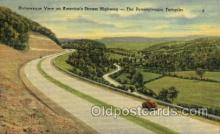 tur001007 - Picturesque View, PA, Pennsylvania, USA Turnpike, Turnpikes Postcard Post Cards Old Vintage Antique