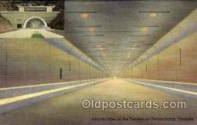 tur001008 - Tunnels, Pennsylvania Turnpike,  PA, Pennsylvania, USA Turnpike, Turnpikes Postcard Post Cards Old Vintage Antique