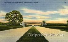 tur001009 - American Super Highway, Pennsylvania Turnpike,  PA, Pennsylvania, USA Turnpike, Turnpikes Postcard Post Cards Old Vintage Antique