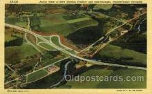 tur001014 - New Stanton Viaduct and Interchanges, PA, Pennsylvania, USA Turnpike, Turnpikes Postcard Post Cards Old Vintage Antique