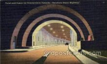 tur001015 - Portal and Tunnel,Pennsylvania Turnpike,  PA, Pennsylvania, USA Turnpike, Turnpikes Postcard Post Cards Old Vintage Antique