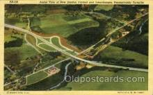 tur001019 - New Stanton Viaduct and Interchanges, PA, Pennsylvania, USA Turnpike, Turnpikes Postcard Post Cards Old Vintage Antique
