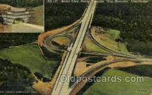 tur001021 - Blue Mountain Interchange, PA, Pennsylvania, USA Turnpike, Turnpikes Postcard Post Cards Old Vintage Antique