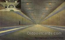 tur001022 - Tunnels, Pennsylvania Turnpike,  PA, Pennsylvania, USA Turnpike, Turnpikes Postcard Post Cards Old Vintage Antique