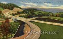 tur001025 - Bedford Interchange, PA, Pennsylvania, USA Turnpike, Turnpikes Postcard Post Cards Old Vintage Antique