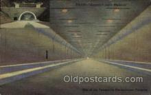 tur001028 - Tunnels, Pennsylvania Turnpike,  PA, Pennsylvania, USA Turnpike, Turnpikes Postcard Post Cards Old Vintage Antique