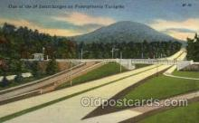 tur001032 - Interchange on  Pennsylvania Turnpike,  PA, Pennsylvania, USA Turnpike, Turnpikes Postcard Post Cards Old Vintage Antique