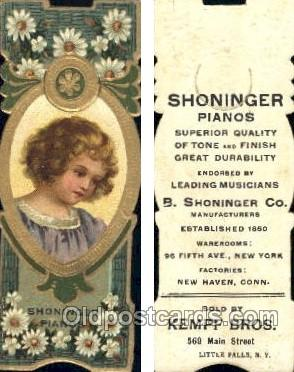Shoninger Pianos, Sold By Kempf Bros, Little Falls, NY USA