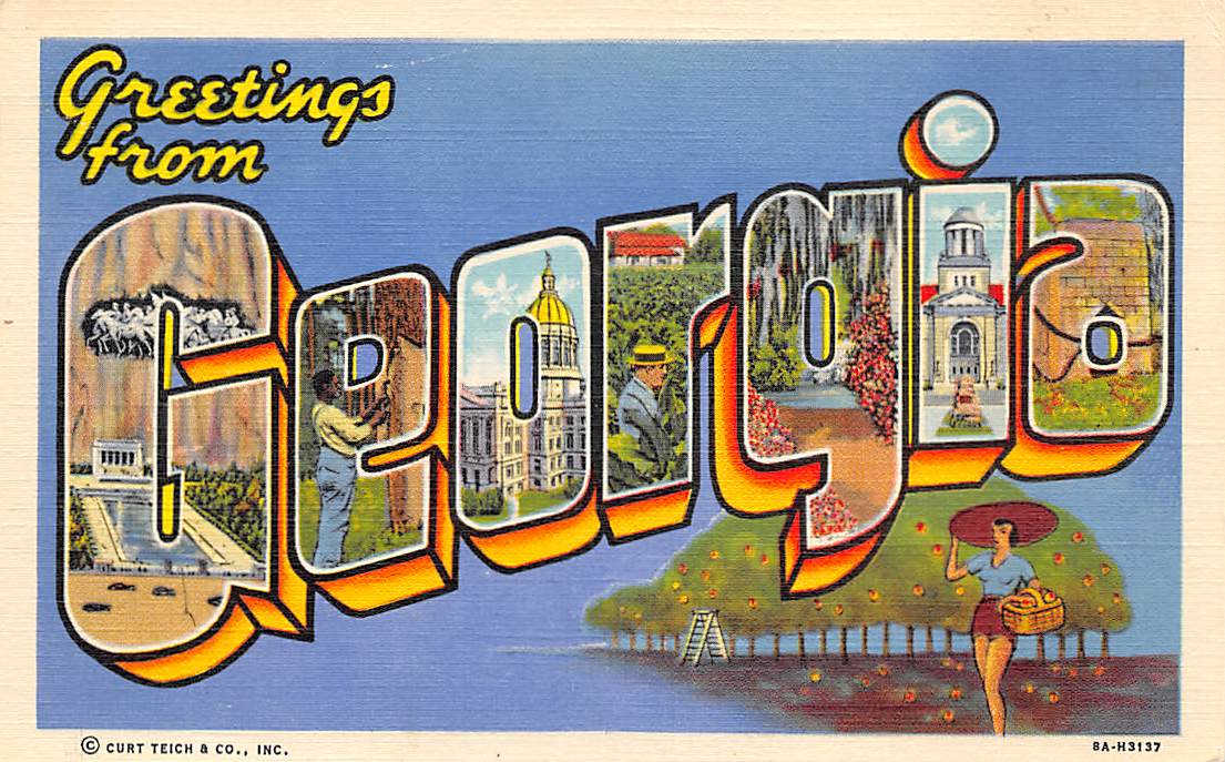 Georgia GA Postcards