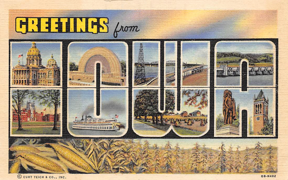 Iowa IA Postcards