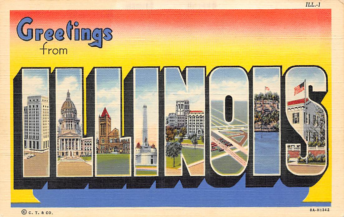 Illinois IL Postcards