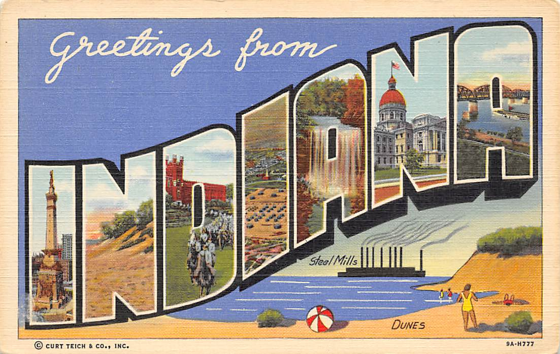 Indiana IN Postcards
