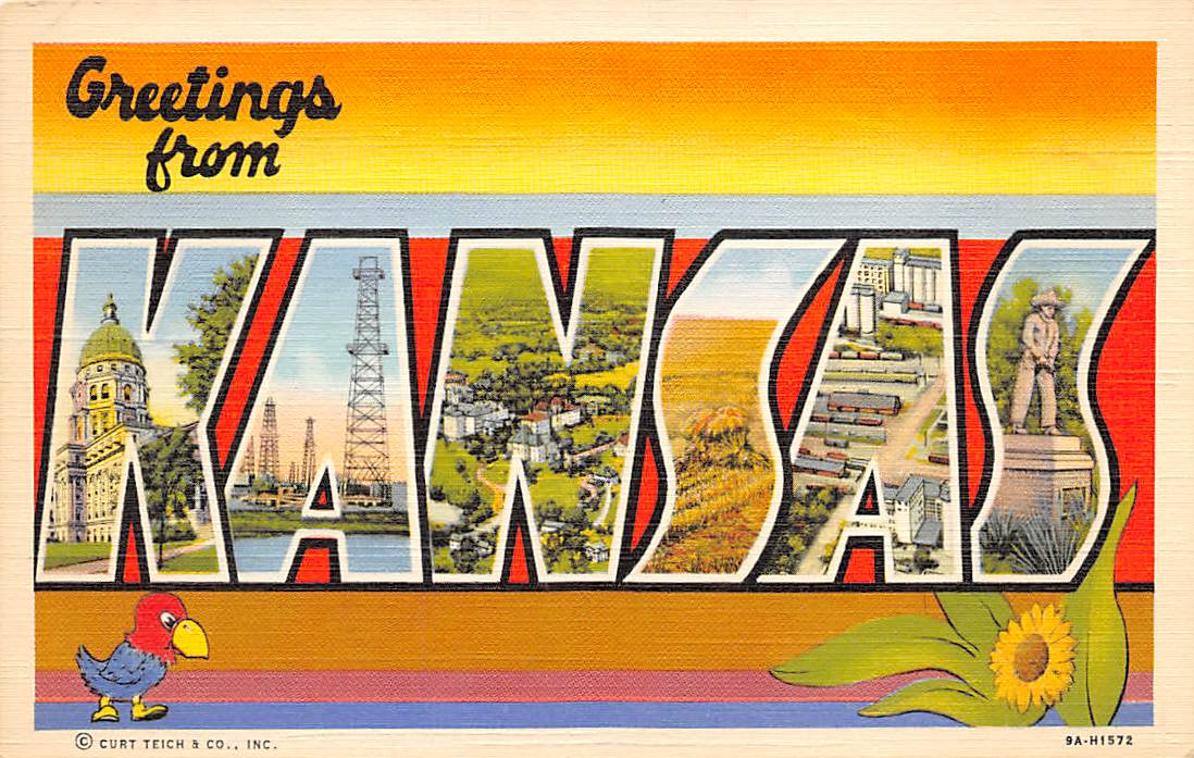 Kansas KS Postcards