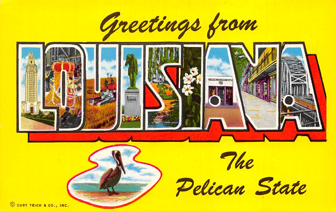 Louisiana LA Postcards