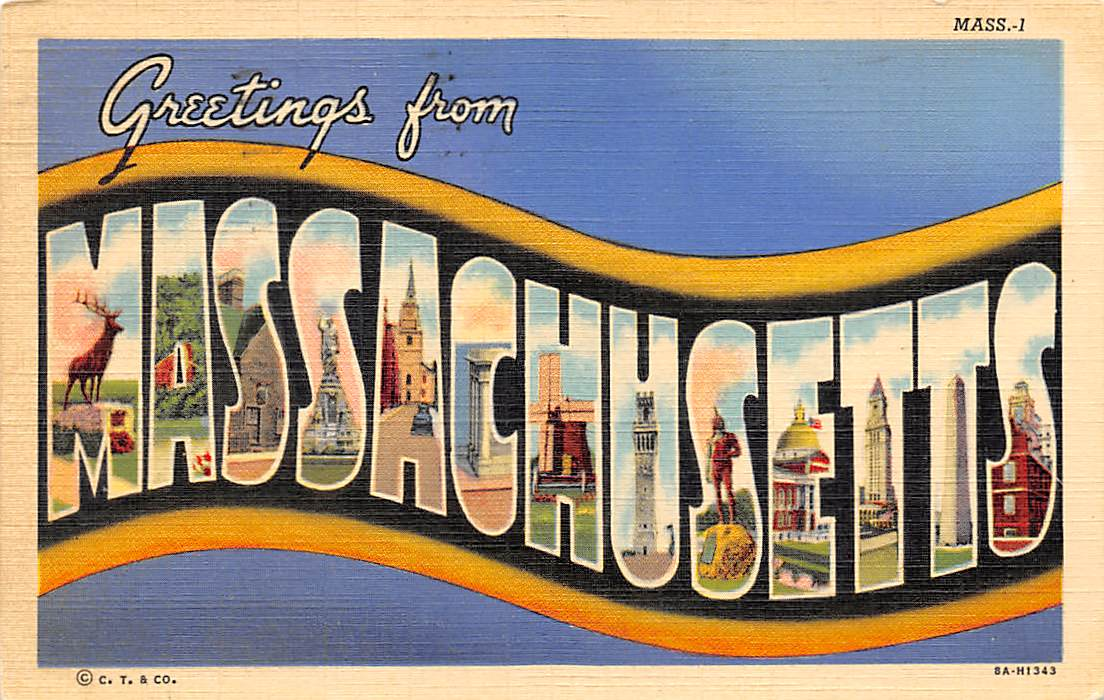 Massachusetts MA Postcards