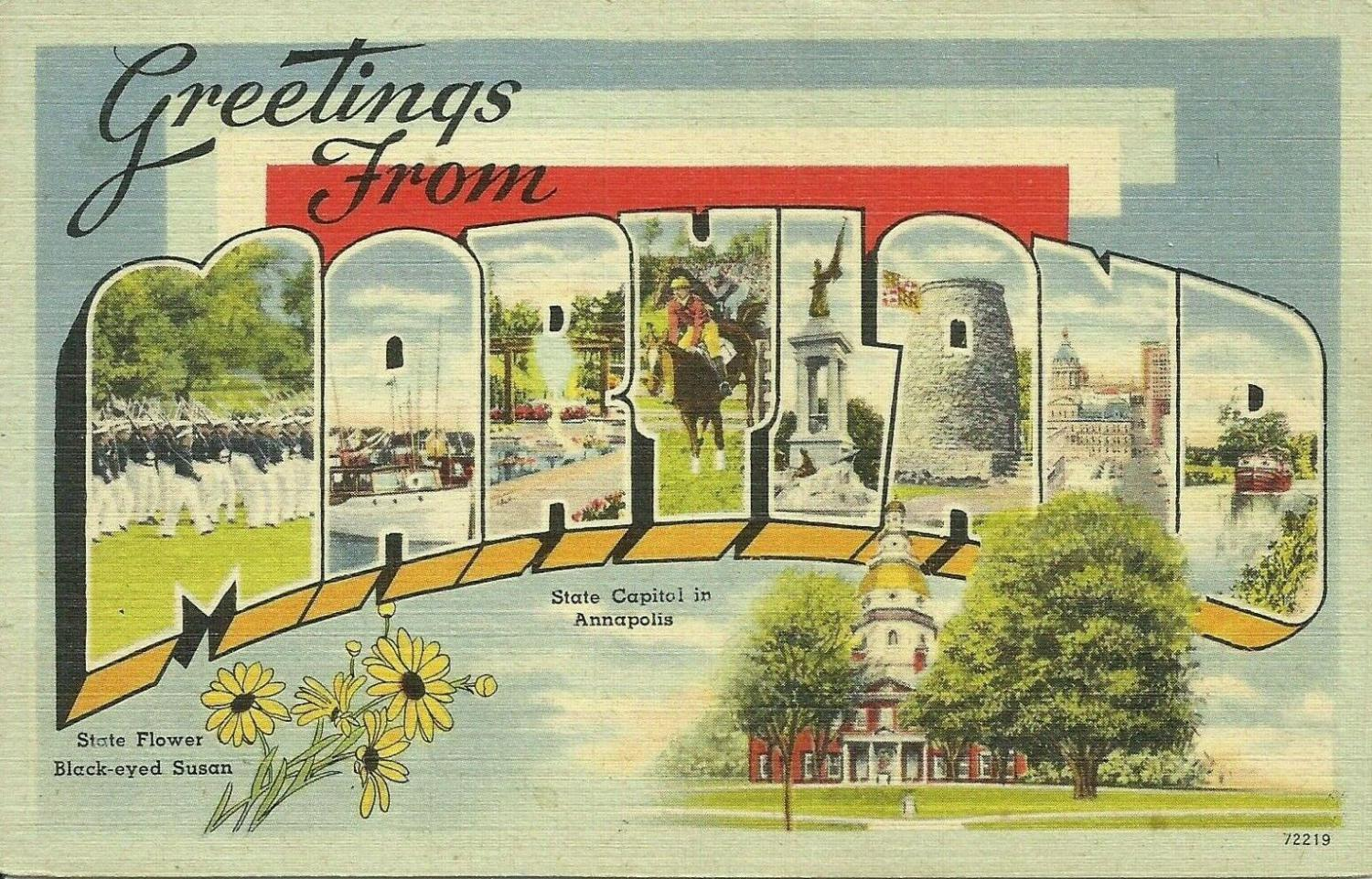 Maryland MD Postcards