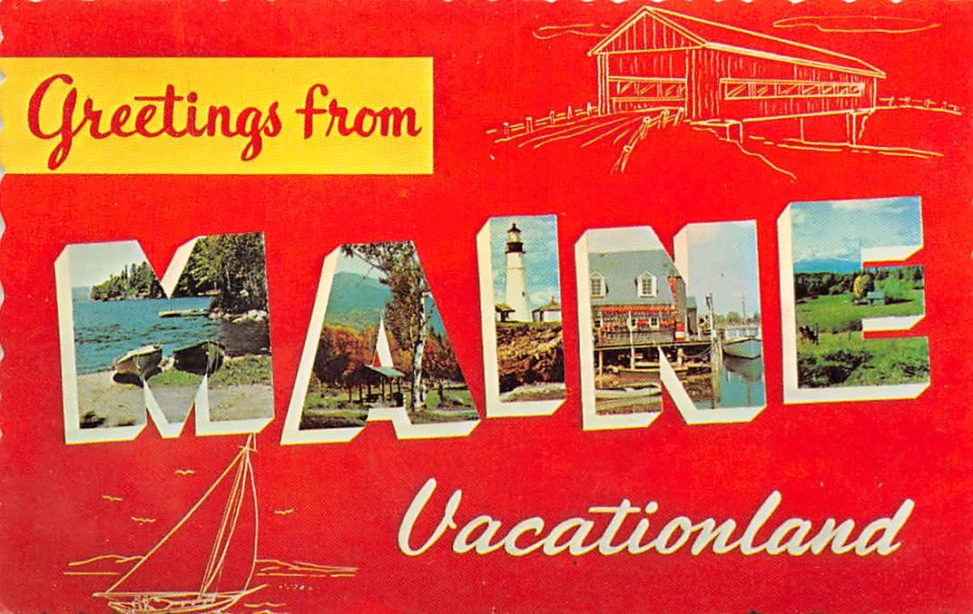 Maine ME Postcards