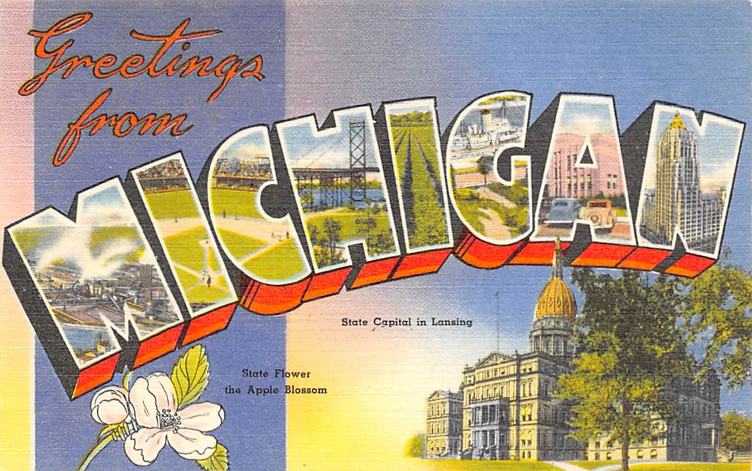 Michigan MI Postcards