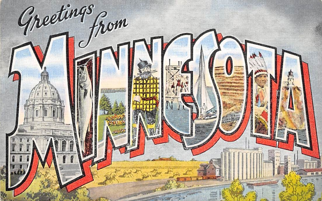 Minnesota MN Postcards