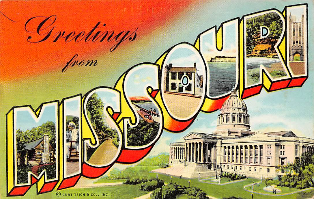 Missouri MO Postcards